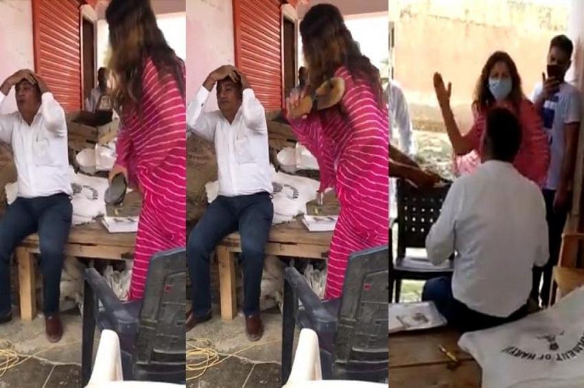 सोनाली फोगाट ने अफसर को जड़ा थप्पड़,बरसाए चप्पल,वीडियो वायरल