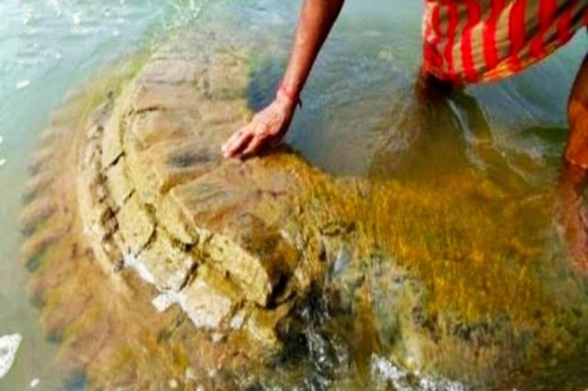 नदी में उभरा  500 साल पुराना मंदिर, जानिये  की क्या है इसकी कहानी